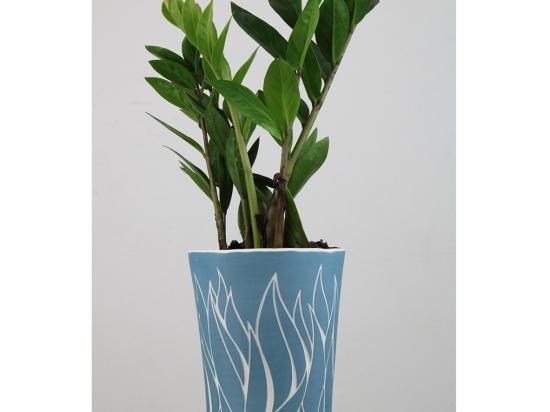 Vase végétal - bleu