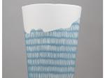 Vase trait - bleu
