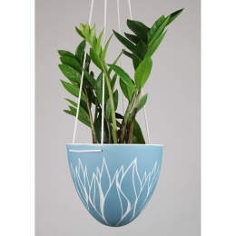Suspension végétal - bleu