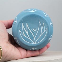 Tasse végétal - bleu